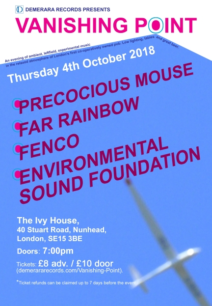 Demerara records Poster_Ivy House OCT 2018 (1)