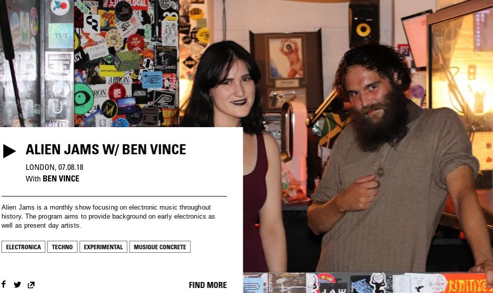 Alien Jams Ben Vince & Chloe Frieda