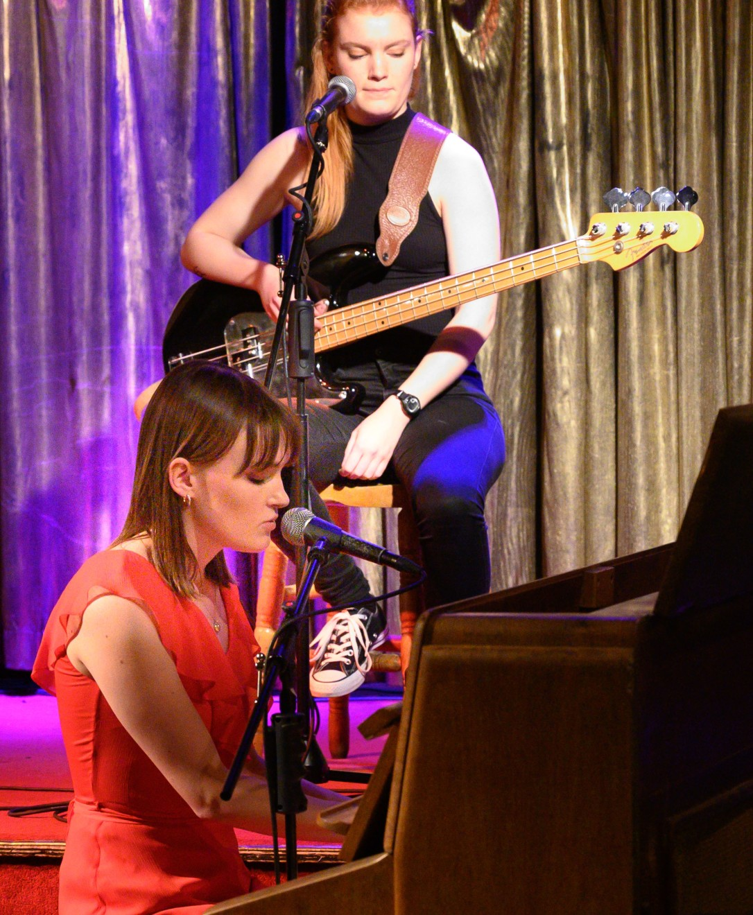Josie serious piano Dina bass